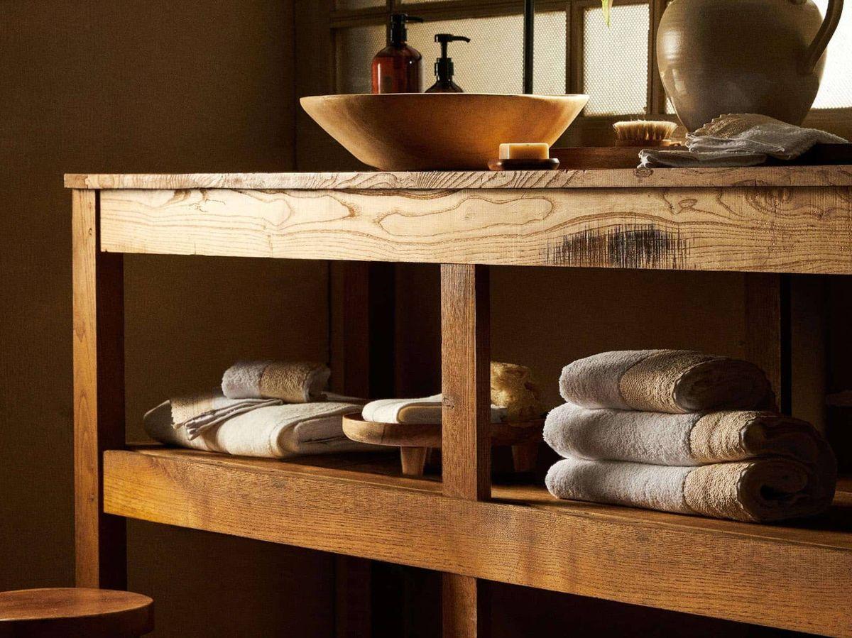 Foto: Elegantes toallas de baño en algodón de Zara Home. (Cortesía)