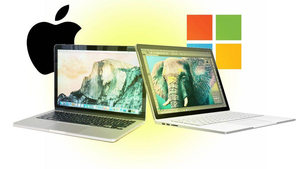 Foto: Apple vs. Microsoft. (EC)