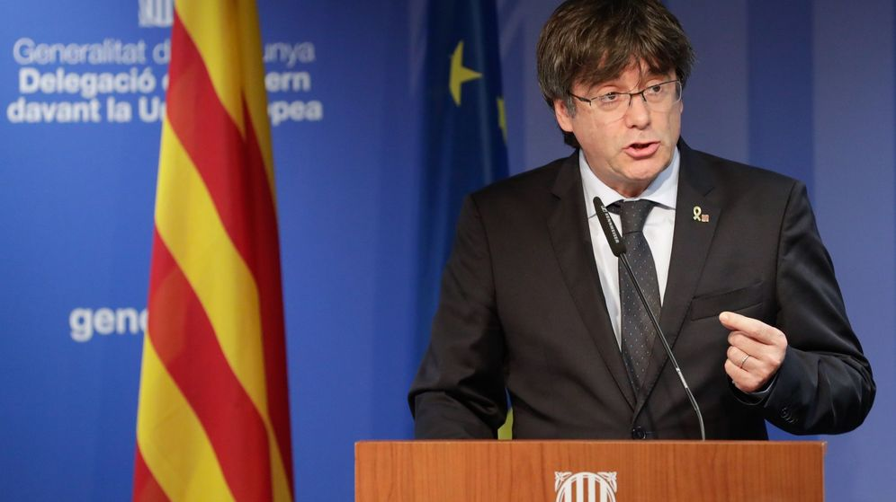 Foto: El expresidente de la Generalitat Carles Puigdemont reacciona a la sentencia del Tribunal Supremo. (EFE)