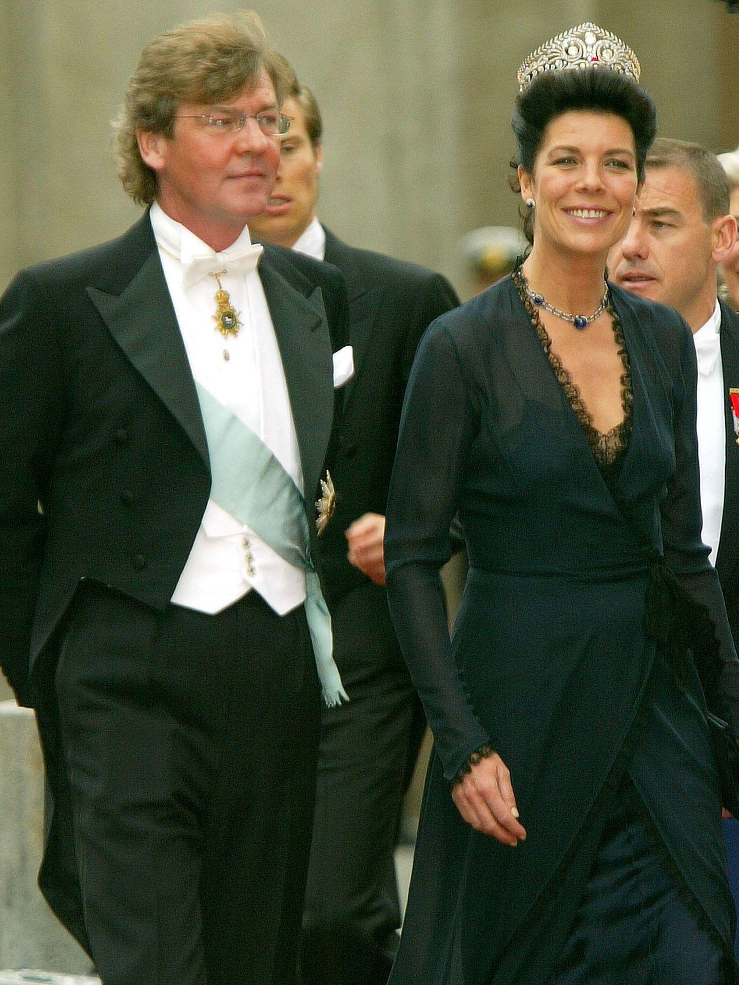 Carolina de Mónaco y Ernesto de Hannover. (Getty)
