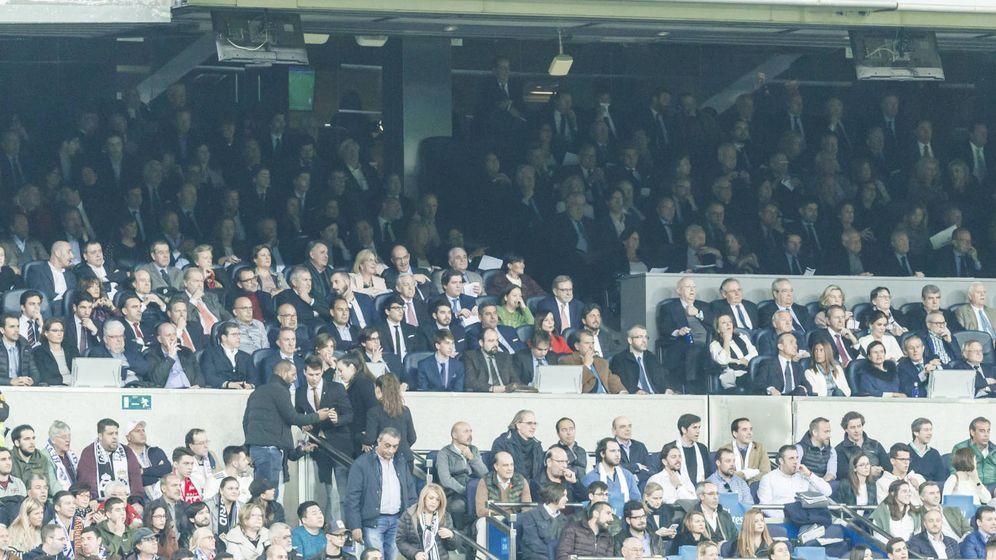 Foto:  El palco del Bernabéu. (Baldesca Samper)