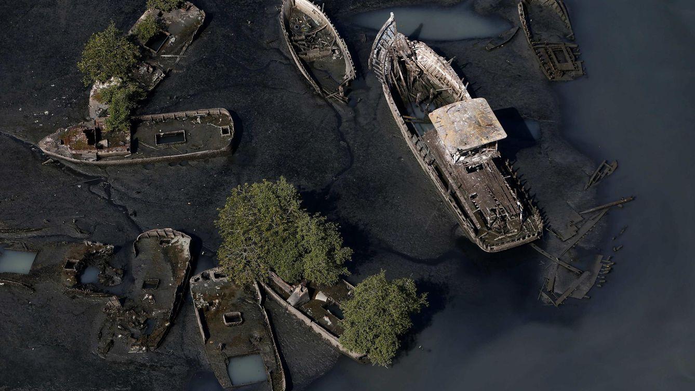 Foto: La bahía de Río se ha convertido en un auténtico vertedero (EFE)