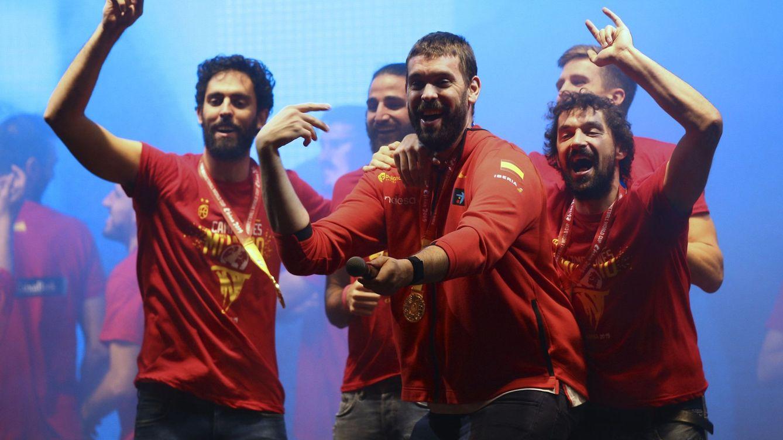 Genio y figura: el 'show' de Marc Gasol en Madrid durante la celebración del Mundial