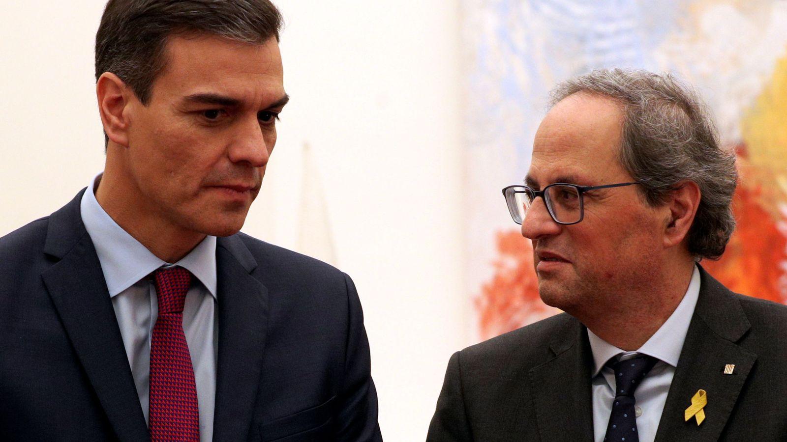 Foto: Pedro Sánchez y Quim Torra, el pasado diciembre en Pedralbes. (Reuters)