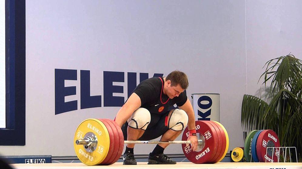 Foto: Alexéi Lovchev, vigente campeón del mundo en la categoría de más de 105 kilos.