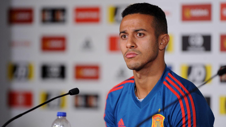 Thiago con la Selección española. (Efe)