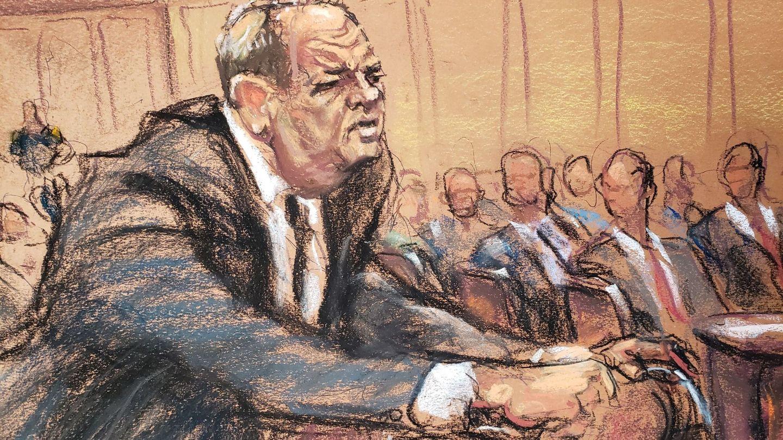 Harvey Weinstein durante el juicio (Reuters)