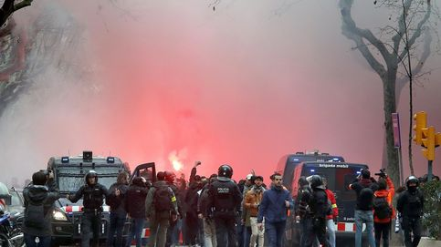 Heridos cinco aficionados del Olympique de Lyon en Barcelona