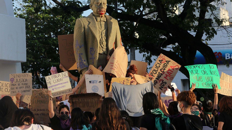 Manifestación en Mézico por la muerte de la migrante salvadoreña Victoria Esperanza. Foto: Efe