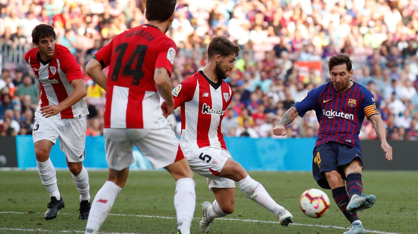 Foto: La liga santander - fc barcelona v athletic bilbao