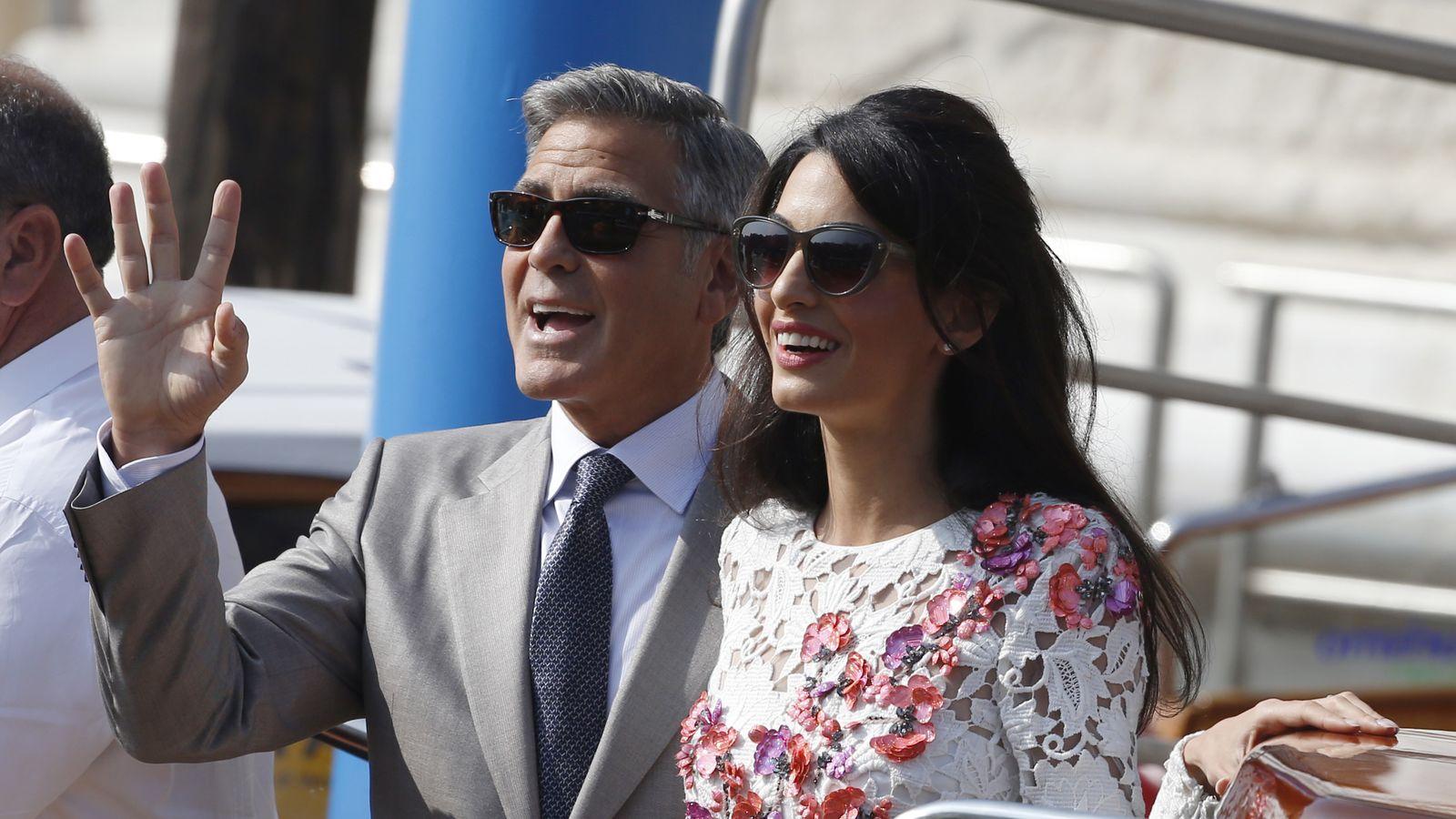 Foto: George Clooney y Amal Alamuddin en su boda veneciana (Gtres)