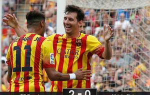 El plan de 'Lucho' funciona: Munir desgasta, Messi crea y 'Ney' mata