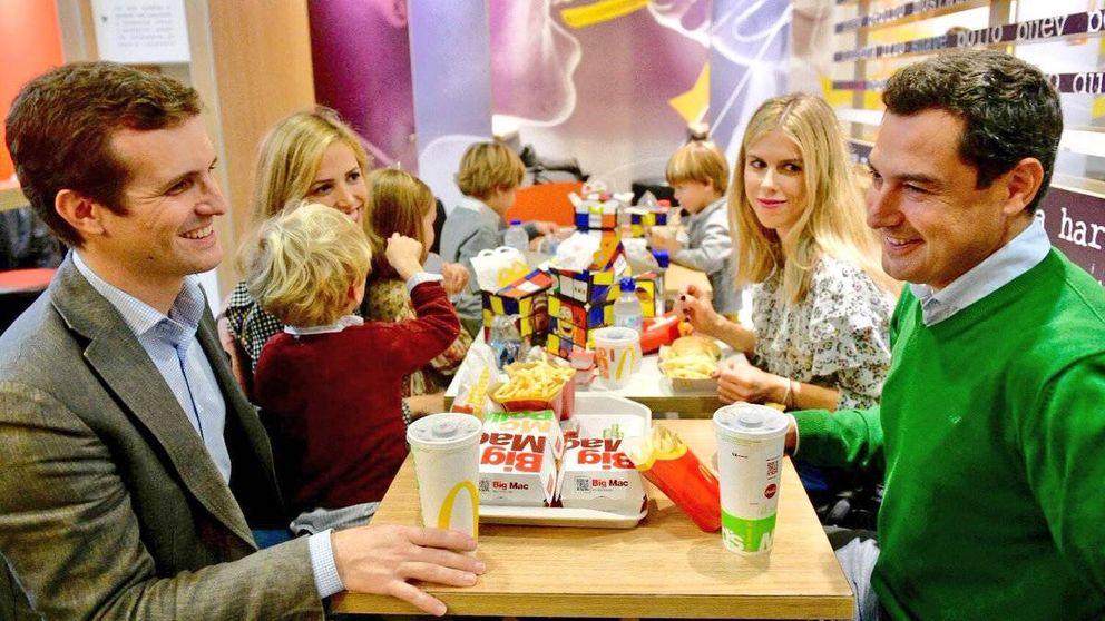 Casado, Moreno y las críticas al almuerzo familiar en un McDonald's de Sevilla