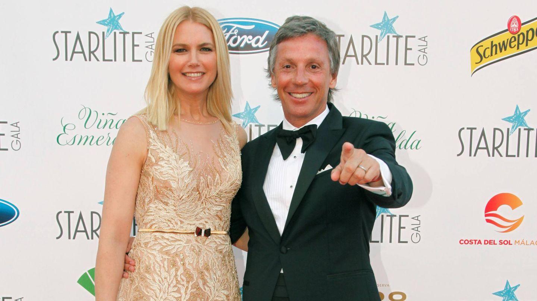 Valeria Mazza y su marido.