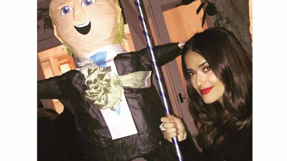 Salma Hayek saca a la luz las 'jocosas' raíces latinas de Donald Trump