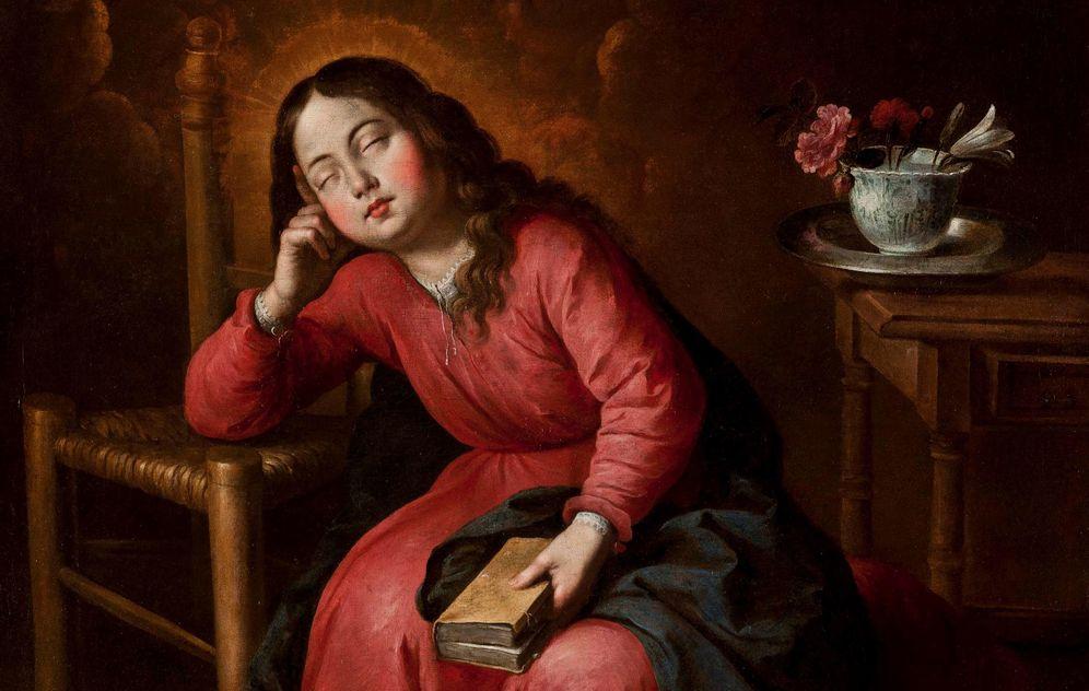Foto: 'La virgen María niña, durmiendo', obra de Francisco de Zurbarán de 1655.