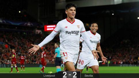 El Sevilla saca un punto de oro  en Anfield ante un Liverpool enchufado