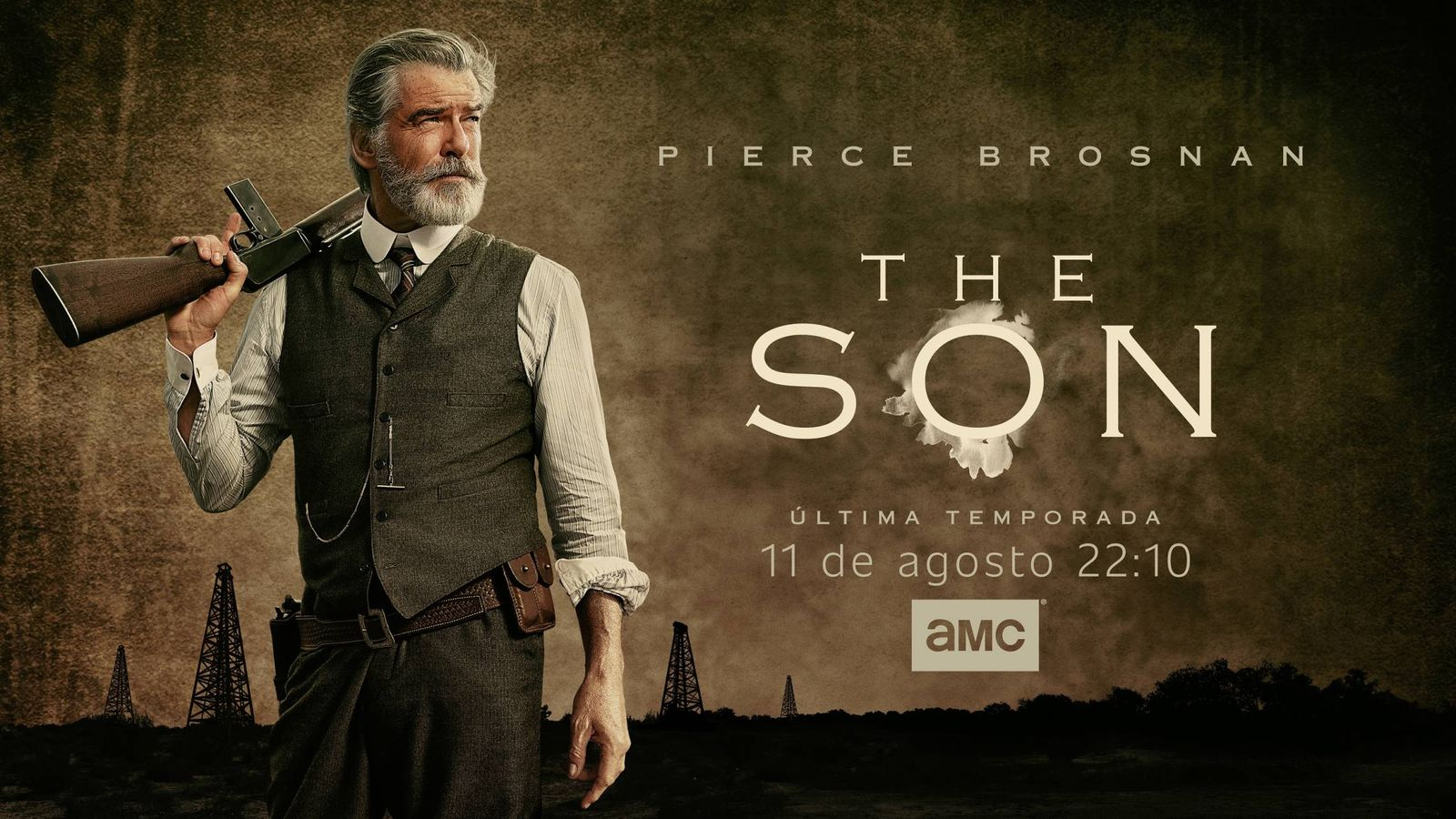 Foto: Pierce Brosnan, en 'The Son'. (AMC).
