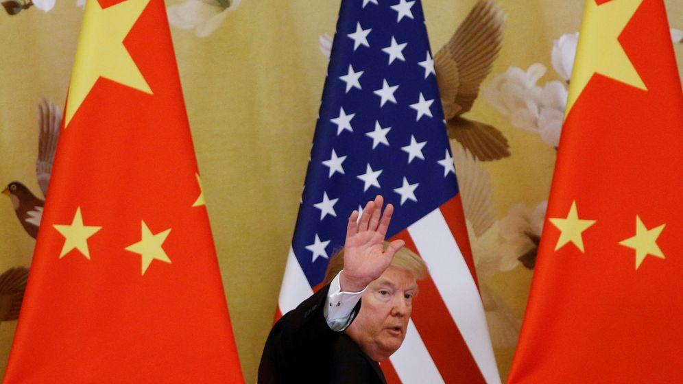 Foto: Donald Trump en Pekín (Reuters)