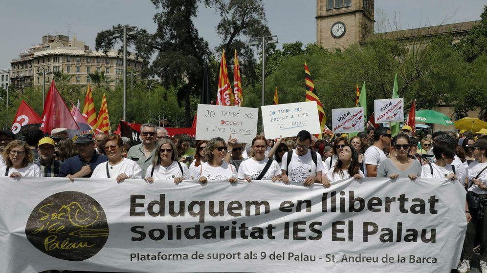 Foto: Manifestación en Barcelona por la libertad de enseñanza. (EFE)