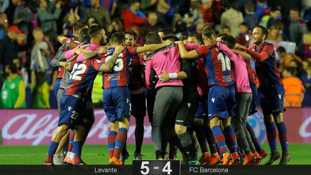 El Barça se deja la imbatibilidad ante el Levante pero se salva del ridículo al final