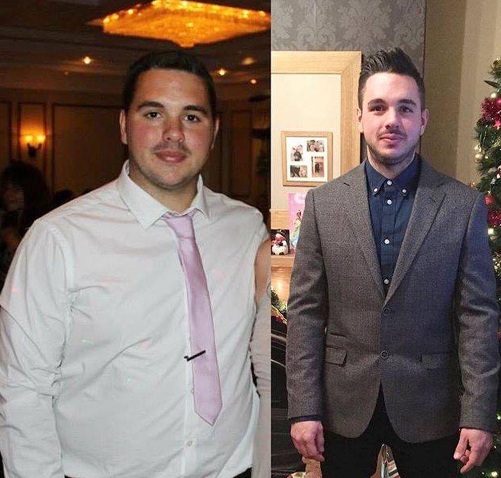 Foto: Dann Sullivan, antes y después. (Instagram)