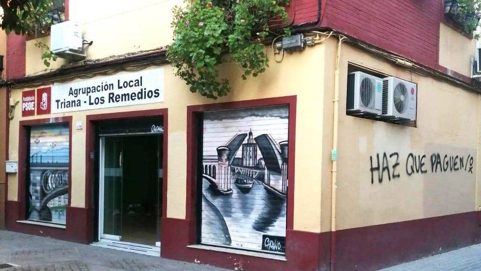 PSOE denuncia pintadas en una sede de Sevilla y dice que no les amedrentarán