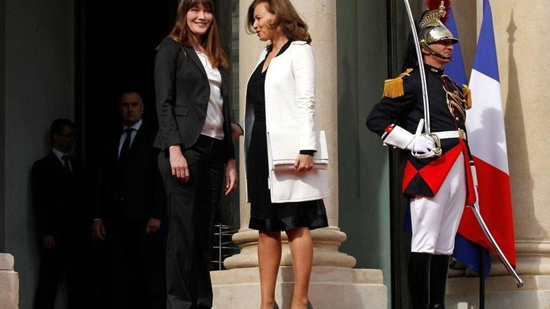 Foto: Carla Bruni y Valérie Trierweiler, en una imagen de archivo (Reuters)
