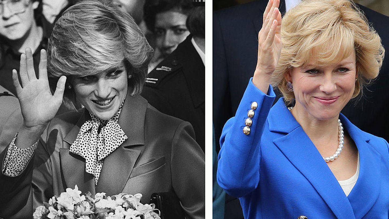 La verdadera Lady Di y la Diana de Watts. (Getty)