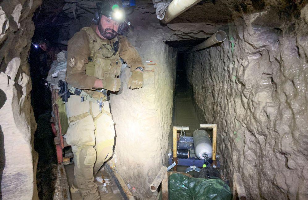 Foto: Descubren el túnel subterráneo secreto más largo entre Estados Unidos y México. (Reuters)