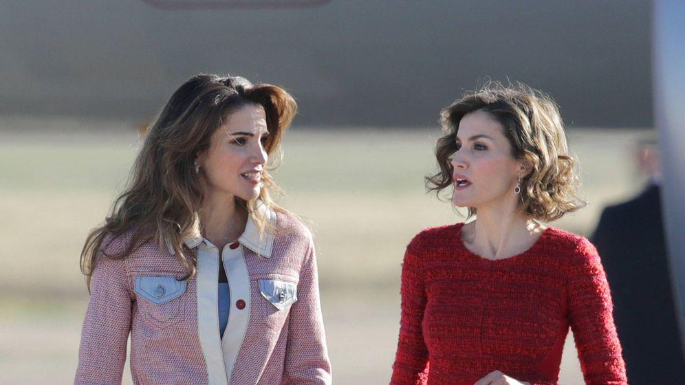 Foto: Las reinas Letizia y Rania en una imagen de archivo. (Gtres)
