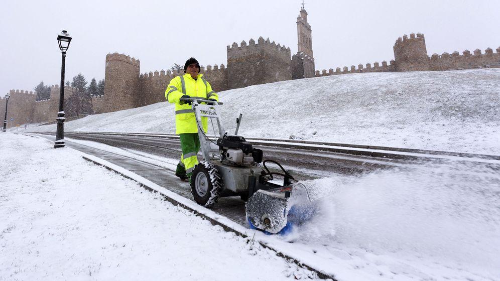 Foto: Siete provincias de Castilla y León están en alerta por frío y nieve. (EFE)