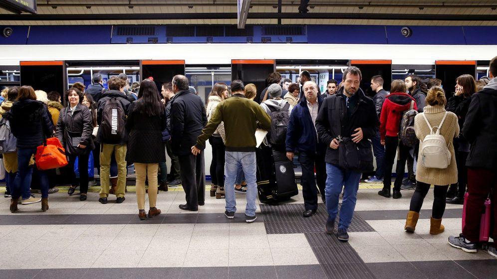 Foto: Huelga maquinistas metro de Madrid en 2017. (Efe)