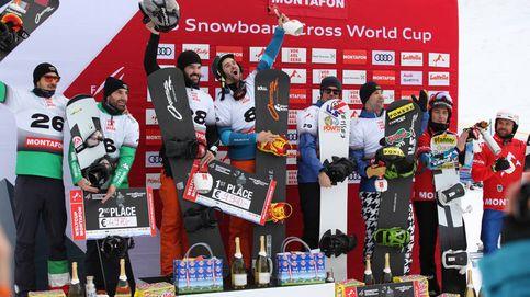 Lucas Eguibar y Regino Hernández  lideran el snowboarder cross mundial
