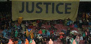 Post de El Barcelona se moja de nuevo y el Camp Nou exige