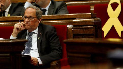 El TSJC rechaza el recurso de la Generalitat: Torra tiene que quitar la pancarta del Palau