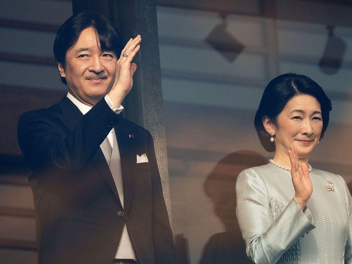 Foto: El príncipe Akishino y su esposa. (Reuters)