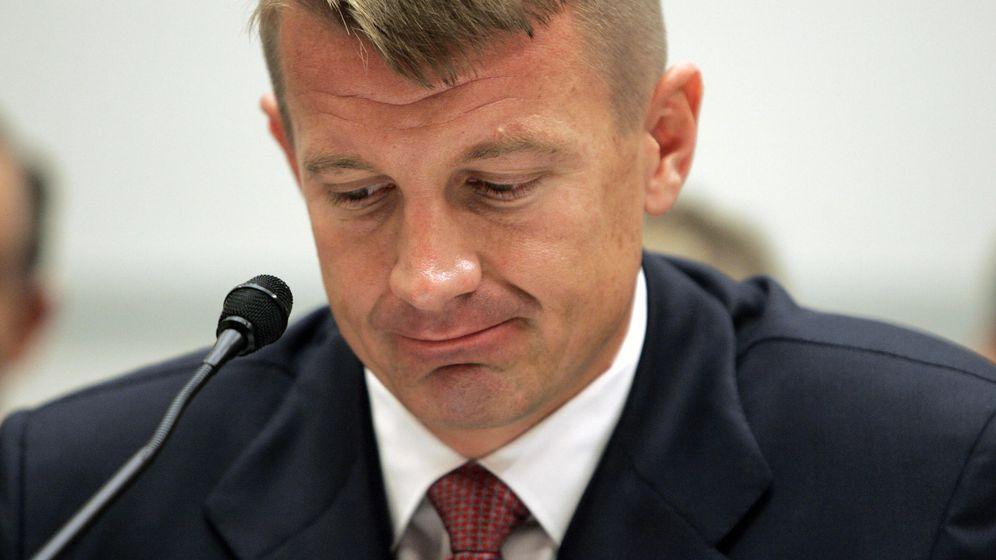 Foto: Erik Prince, testificando ante un comité del Congreso estadounidense acerca de las actividades de Blackwater en Afganistán e Irak, en 2007 (Reuters)