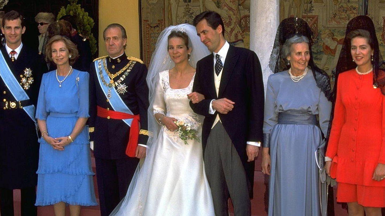 La boda de la Infanta Elena y Jaime de Marichalar, en 1995. (Getty)