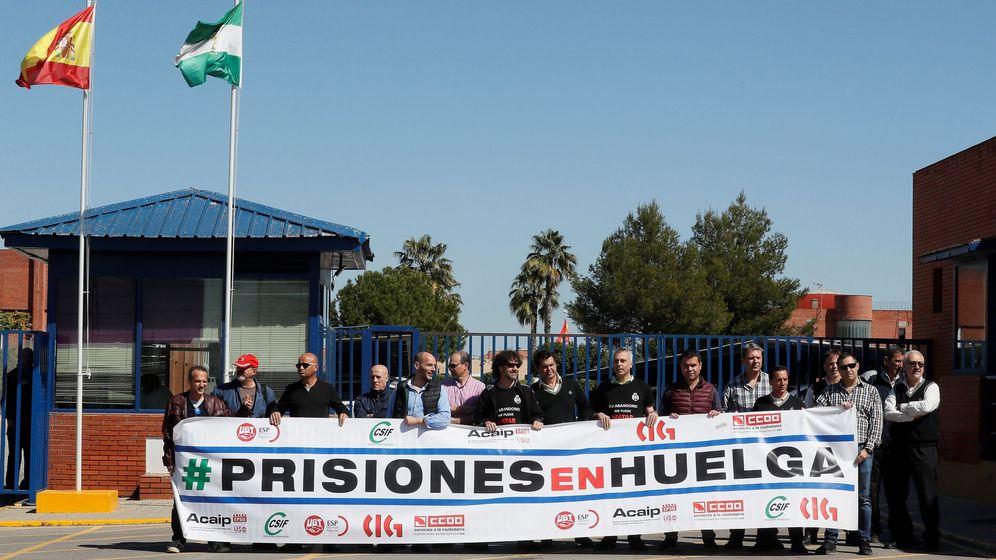 Foto: Protesta de funcionarios de prisiones en marzo de 2019. (EFE)