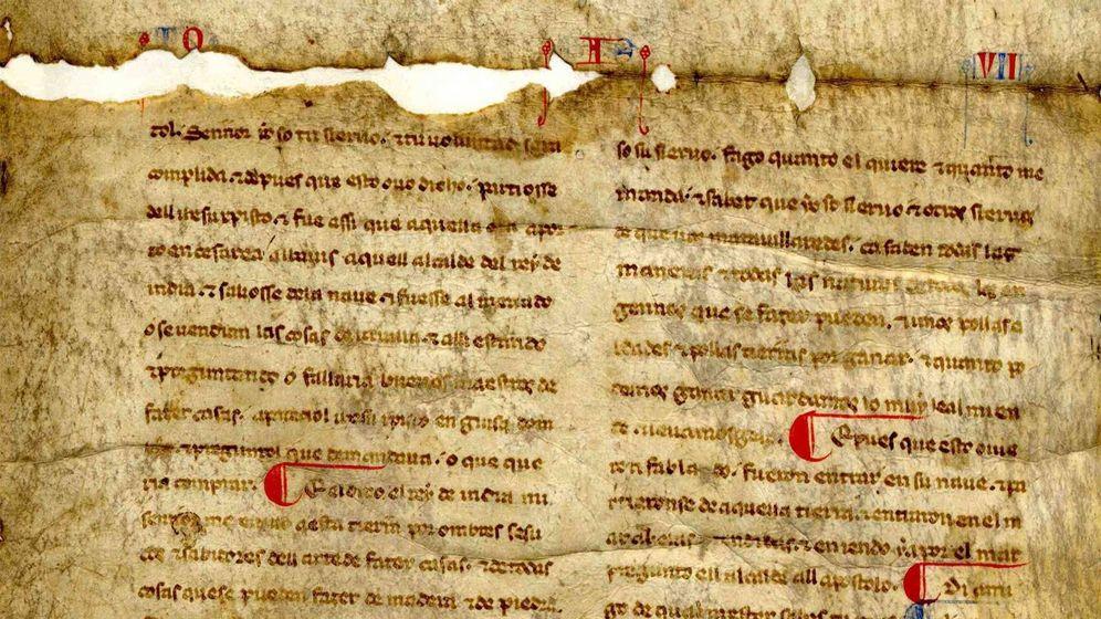 Foto: Uno de los manuscritos