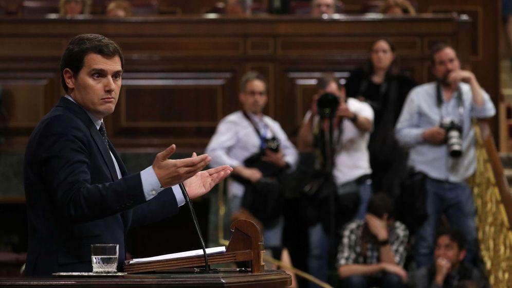 Foto: El líder de Ciudadanos, Albert Rivera, durante su comparecencia en el Congreso. (Reuters)