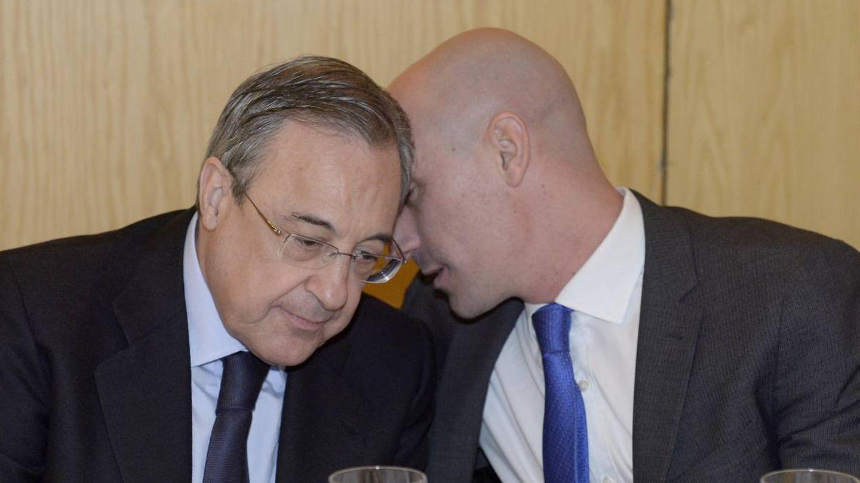 Florentino Pérez y Luis Rubiales, presidentes del Real Madrid y la RFEF, respectivamente. (EFE)