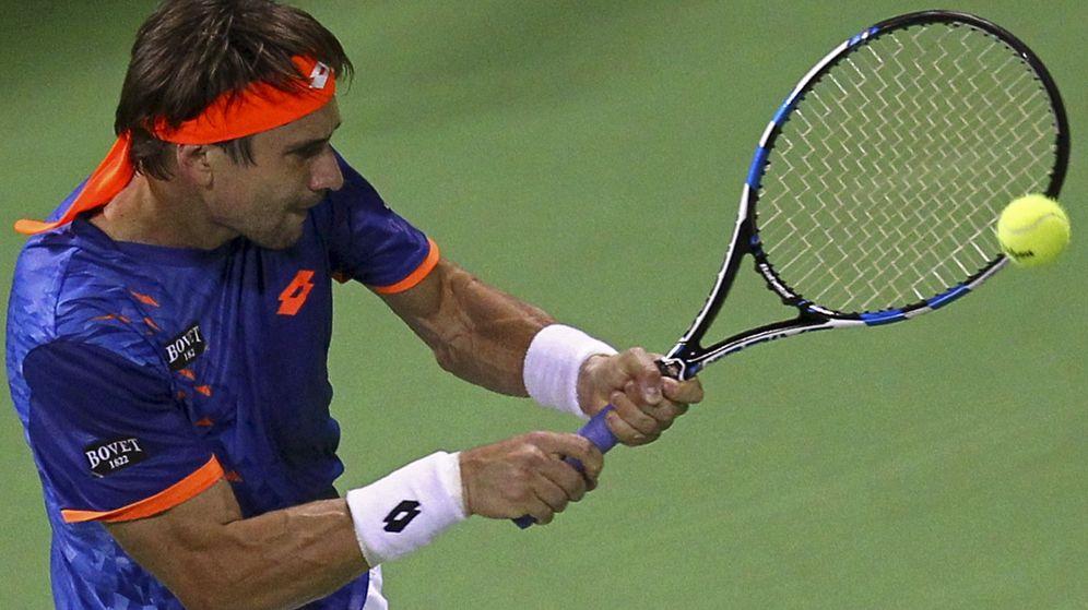 Foto: David Ferrer ganó el último partido de la carrera de Lleyton Hewitt (Reuters).