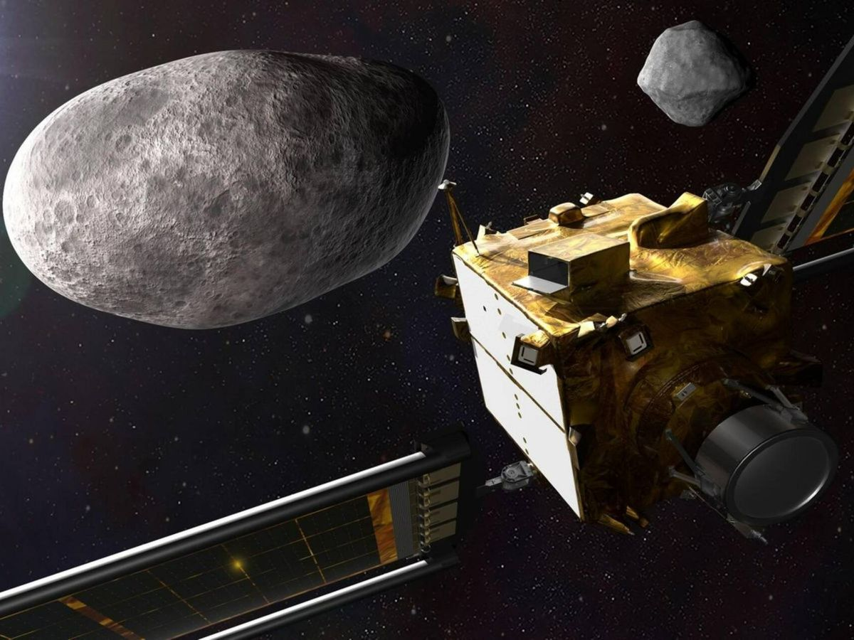 Foto: La misión DART quiere chocar contra un asteroide para cambiar su trayectoria. (NASA)