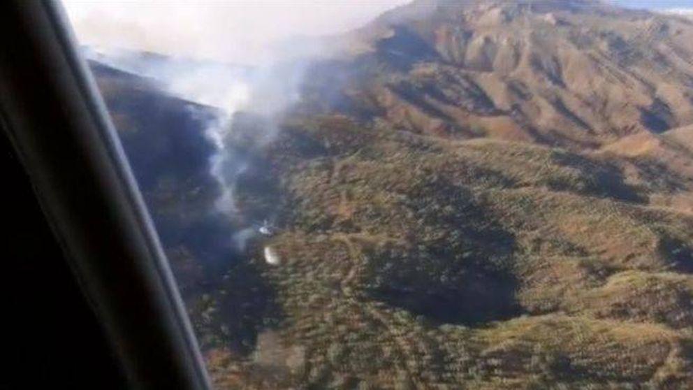 Extinguido el incendio forestal declarado este domingo en Mojácar (Almería)
