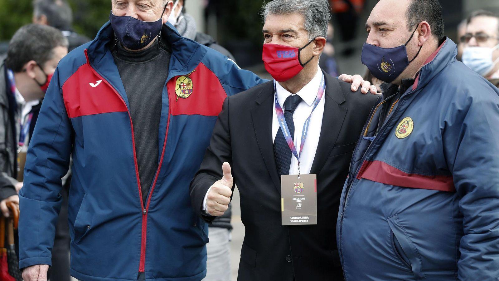 Sondeos: Laporta arrasa en las elecciones del Barça con más de la mitad del voto