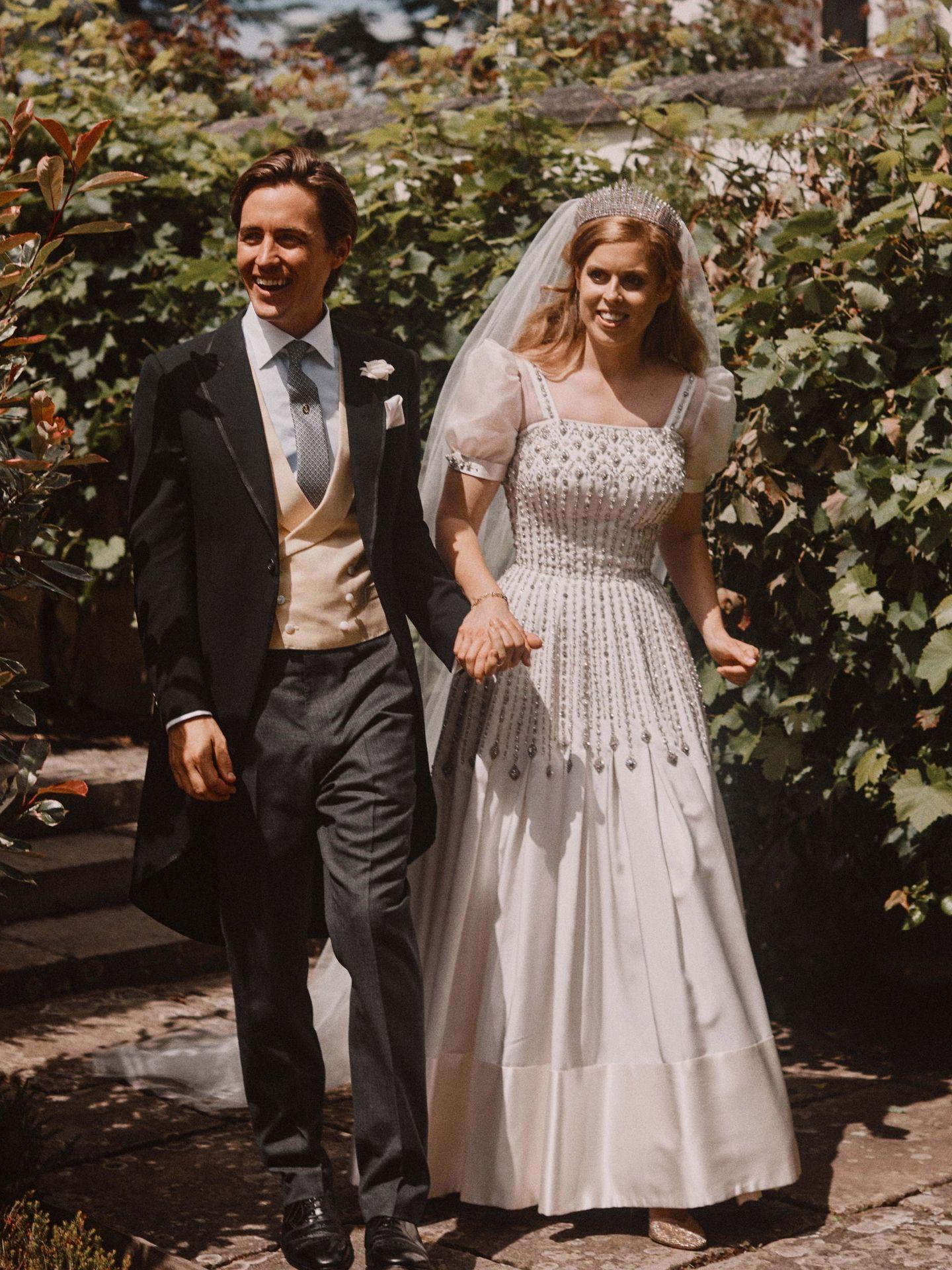 Beatriz de York y Edo Mapelli, el día de su boda. (Reuters)