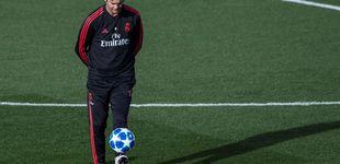 Post de La frialdad de Solari para no 'casarse' con los pesos pesados en el Real Madrid