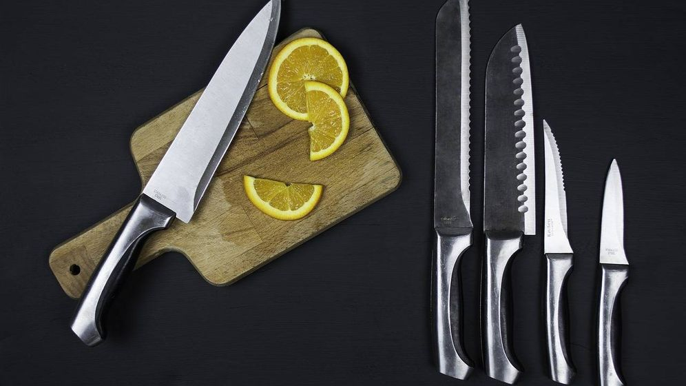 Foto: Diferentes tipos de cuchillos.